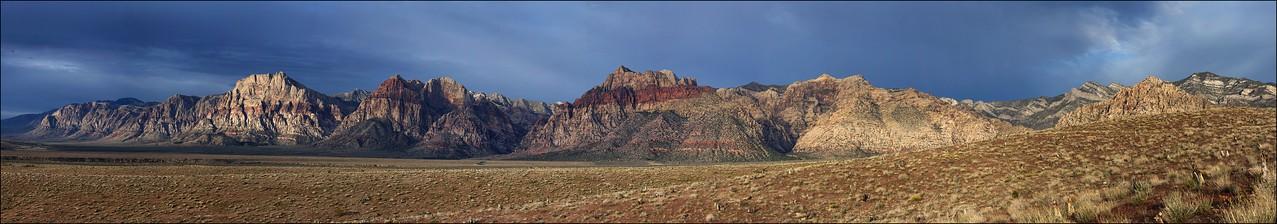 Sunrise over Red Rock Escarpment.