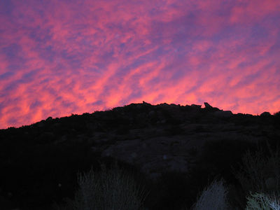 Dawn in the Lakeview Mountains, 23 Dec 2005