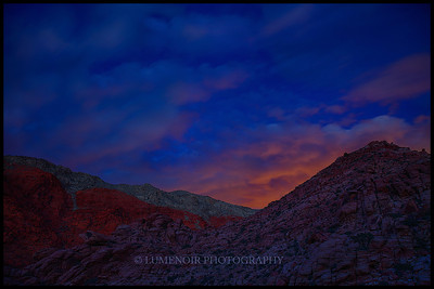 Sunset around Womb of Happiness, Calico Basin.