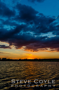 Sunset on Brushy Creek