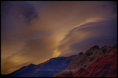 End of a windy day in Red Rock National Park.