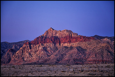 Sunrise at the Red Rock, Nevada