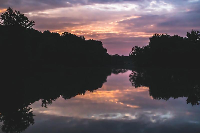 Sunrise over Shelburn Lake