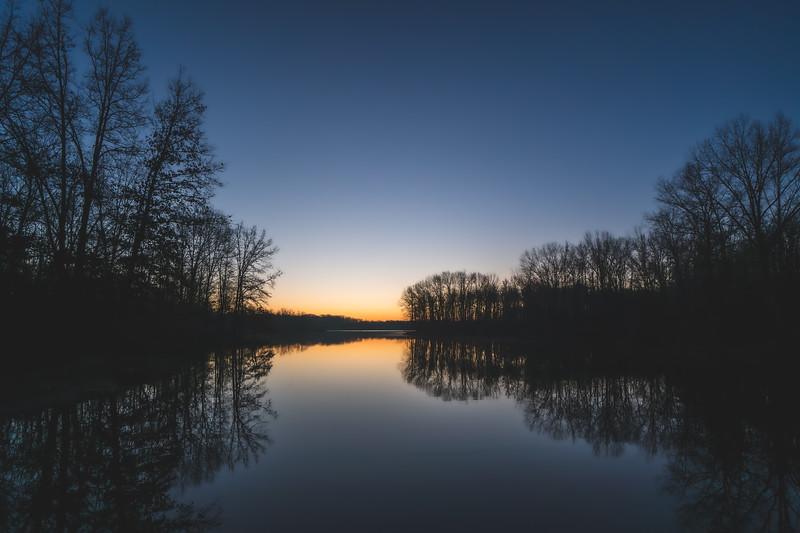 First Sunrise of 2020 over Lake Kickapoo