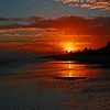 Sunrise on the beach in El Cuyo