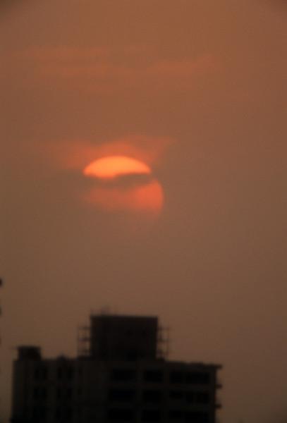 Sunset in Cairo smog