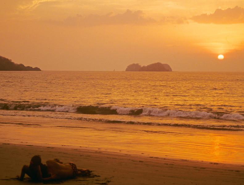 A couple on the beach in Kho Lanta Thailand