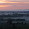 A slightly misty morning, looking out over the Rangitaiki Plains.