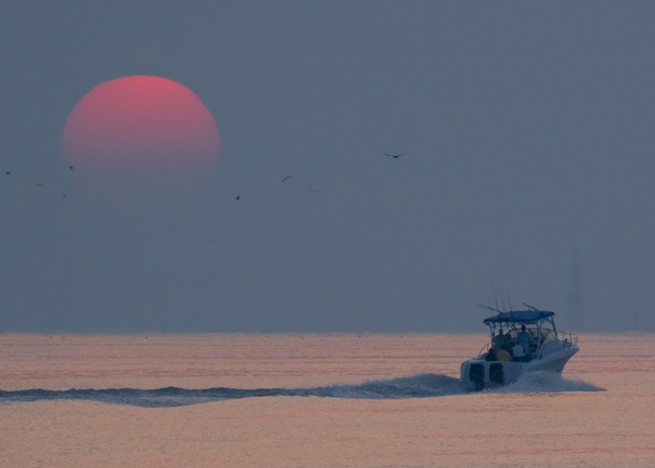 Sunrise from Kemah boardwalk