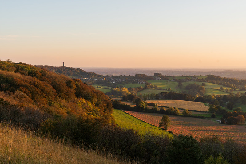 Autumnal sunset from Stinchcombe 10/10/18