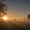 Siston Common sunrise, 26/8/16