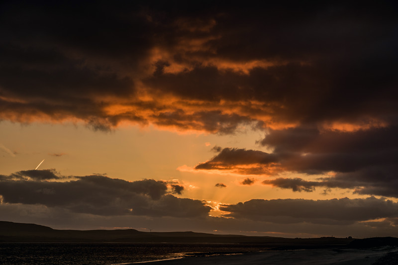 Taft end beach sunset, Westray. May 2016