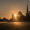 Frenchay Common misty Sunrise 30/8/16