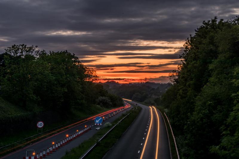 Keynsham Bypass sunset
