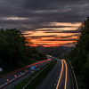 Keynsham Bypass sunset
