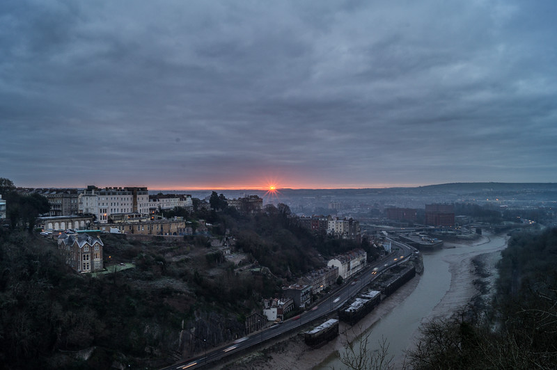 Sunrise from Clifton Suspension Bridge