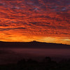 Morning Red sky over Kelston Roundhill 19/11/17