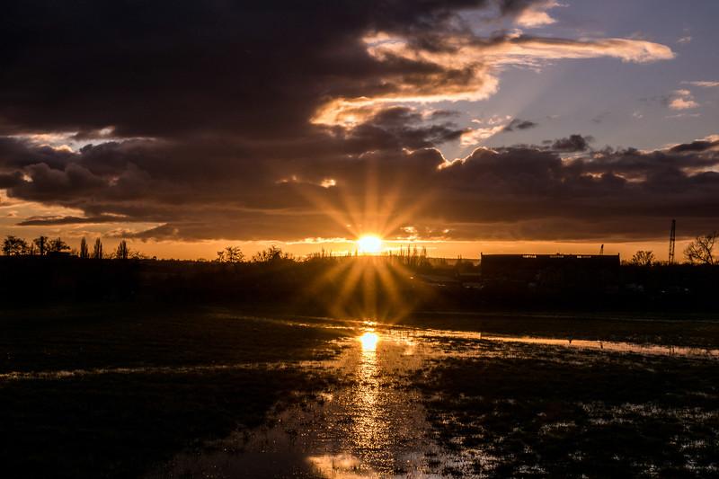 Sunset from nearby Keynsham 10/2/16