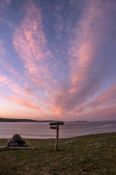 Sunset at Sandwick Bay, Unst