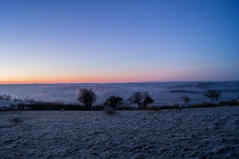 Sunrise from Dean Hill, Weston