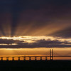 Severn Bridge sun rays