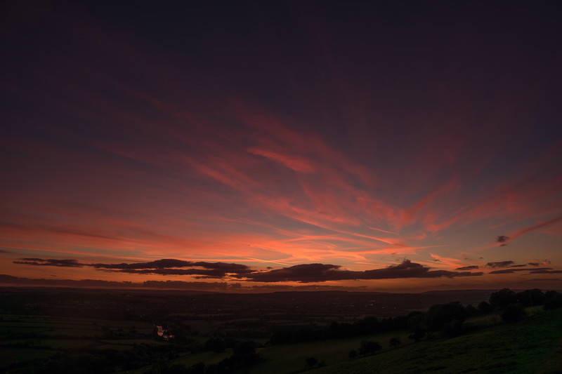 Sunset from North Stoke/Kelston 18/10/16