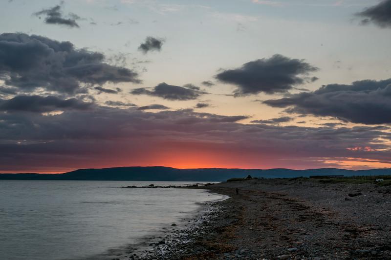 Sunset over Sliddery