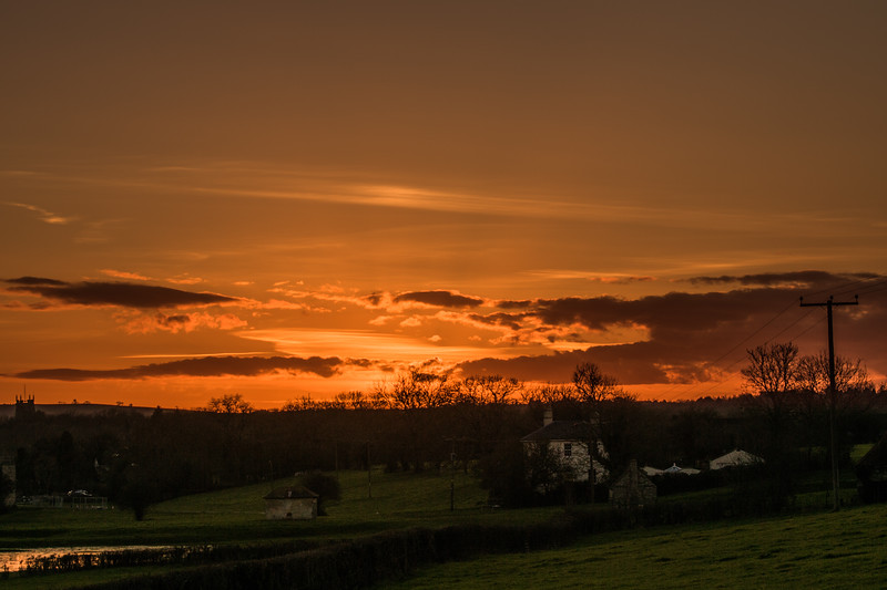 Sunset over Keynsham 23/2/16