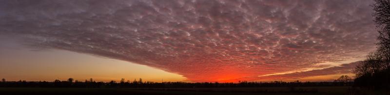 Keynsham sunset panorama 18/1/2017