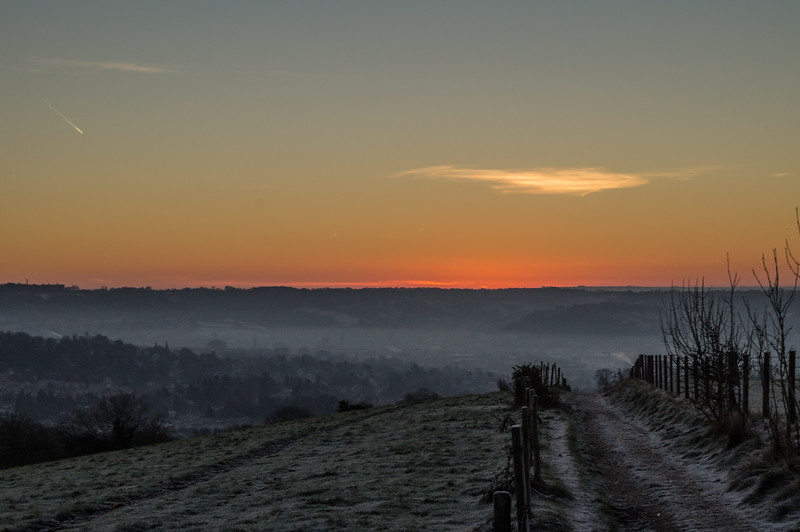 Sunrise from Dean Hill, Weston
