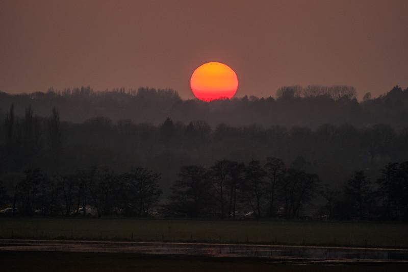 Sunset over Keynsham 17/3/16