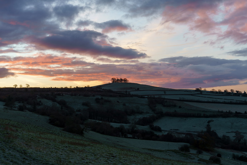 Sunrise over Kelston Roundhill 9/12/17