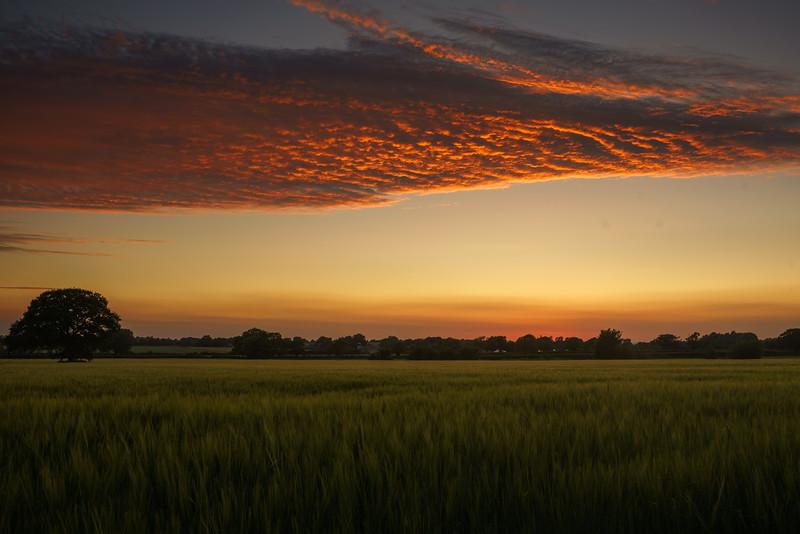 Old Sodbury sunset 28/6/18
