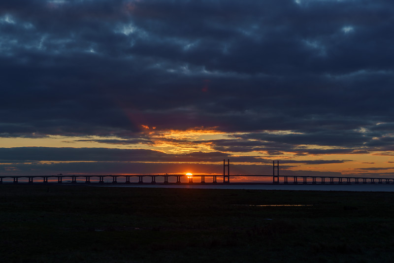 Severn Bridge sunset 4/2/18
