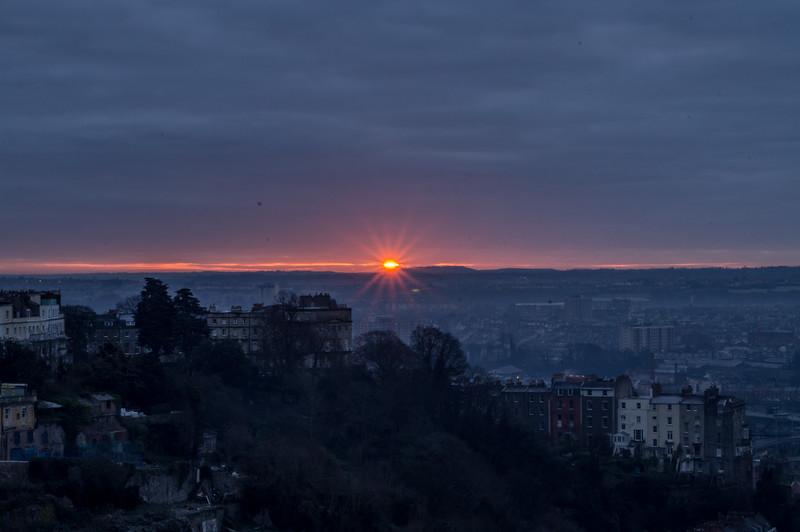 Sunrise from Clifton Suspension Bridge