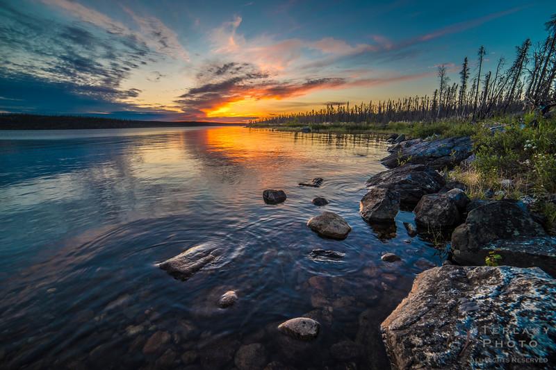 Sunset over Sunset Lake.