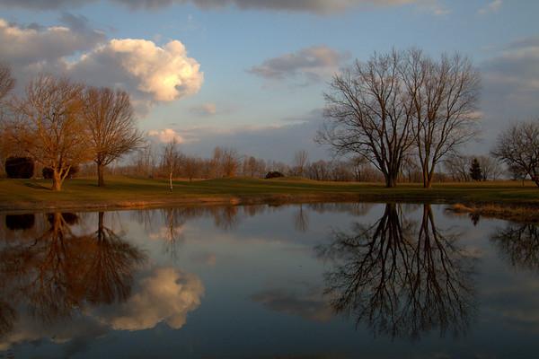 Sunset On The Pond  4-21-2013