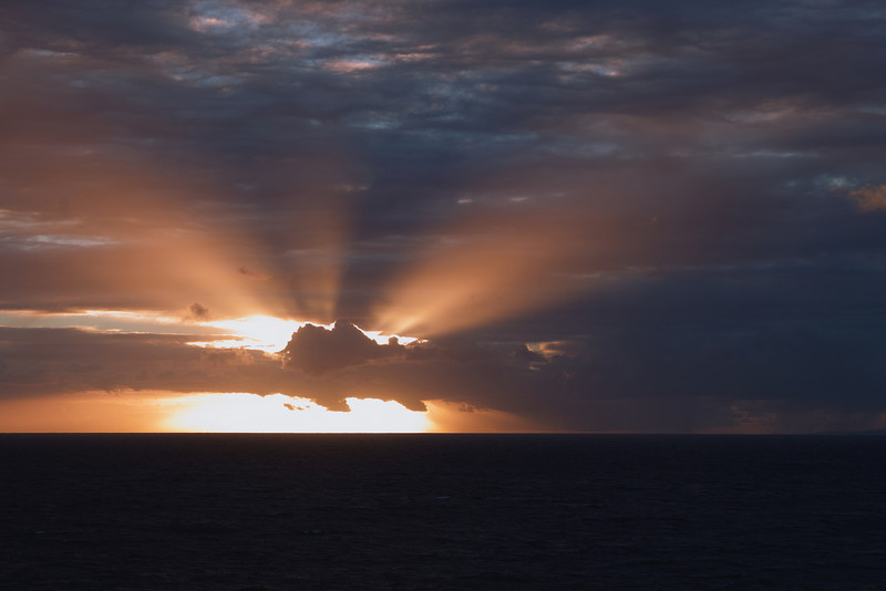At sea sunset, Atlantic