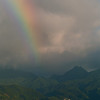 Rainbow at sunset off Commonwealth of Dominica.