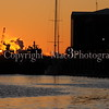 Sunrise over the Savannah River and Tugboats warm up for the days work #2