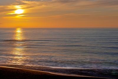 North Beach sunset, Point Reyes National Seashore, California.