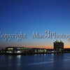 Sunrise over the Westin taken from Savannah's River street. Great view from  the Hyatt hotel in Savannah GA.