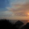 California Coast Sunset near San Simeon