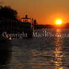 Sunrise relected on the Savannah River from the deck of the water taxi Juliette Gordon Low