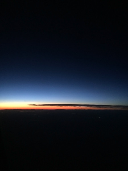 Final Light - Somewhere Over The The United States<br /> iPhone Photo