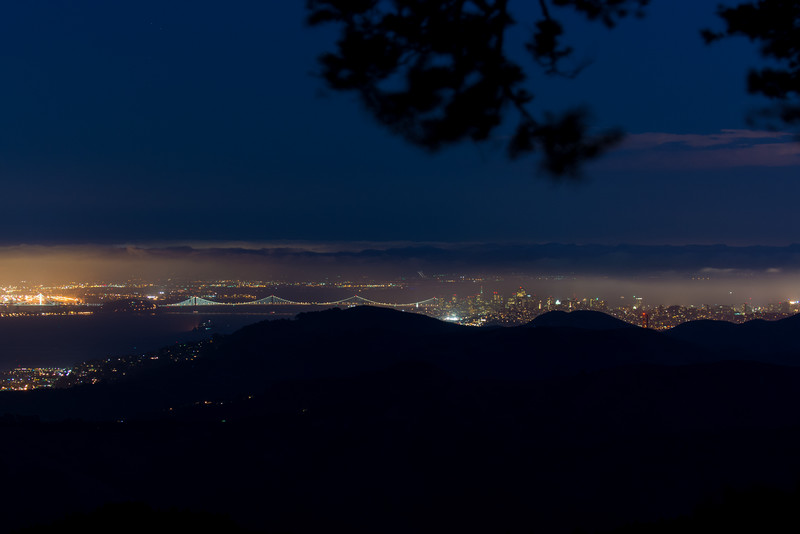 Bay Area at Night from Mount Tamalpais