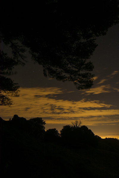 Bay Area Sky at Night from O'Rourke's Bench