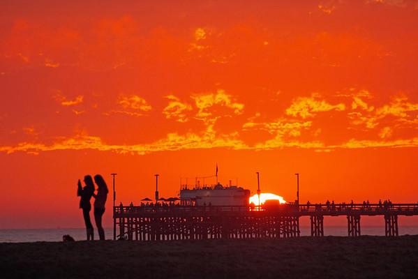Sunset at the Balboa Peninsula