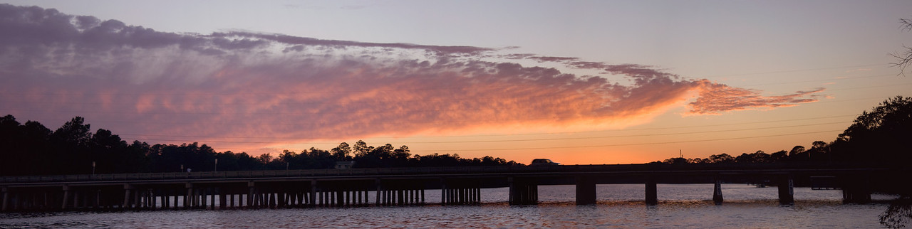 Sunset and Tom's Bayou Bridge