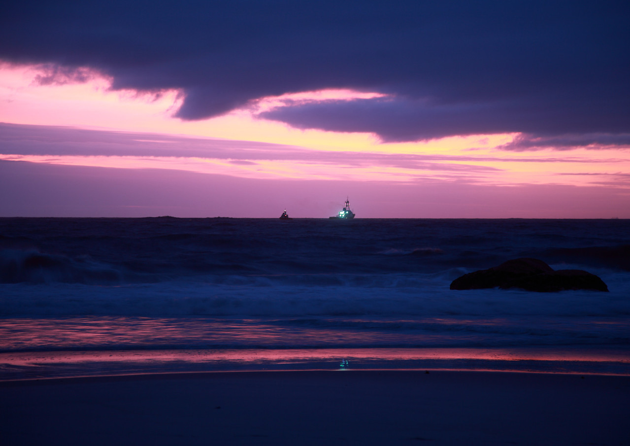 Sunset over Clifton Beach, Cape Town, South Africa